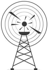 Les ondes radio émises par les antennes sont des ondes électromagnétiques