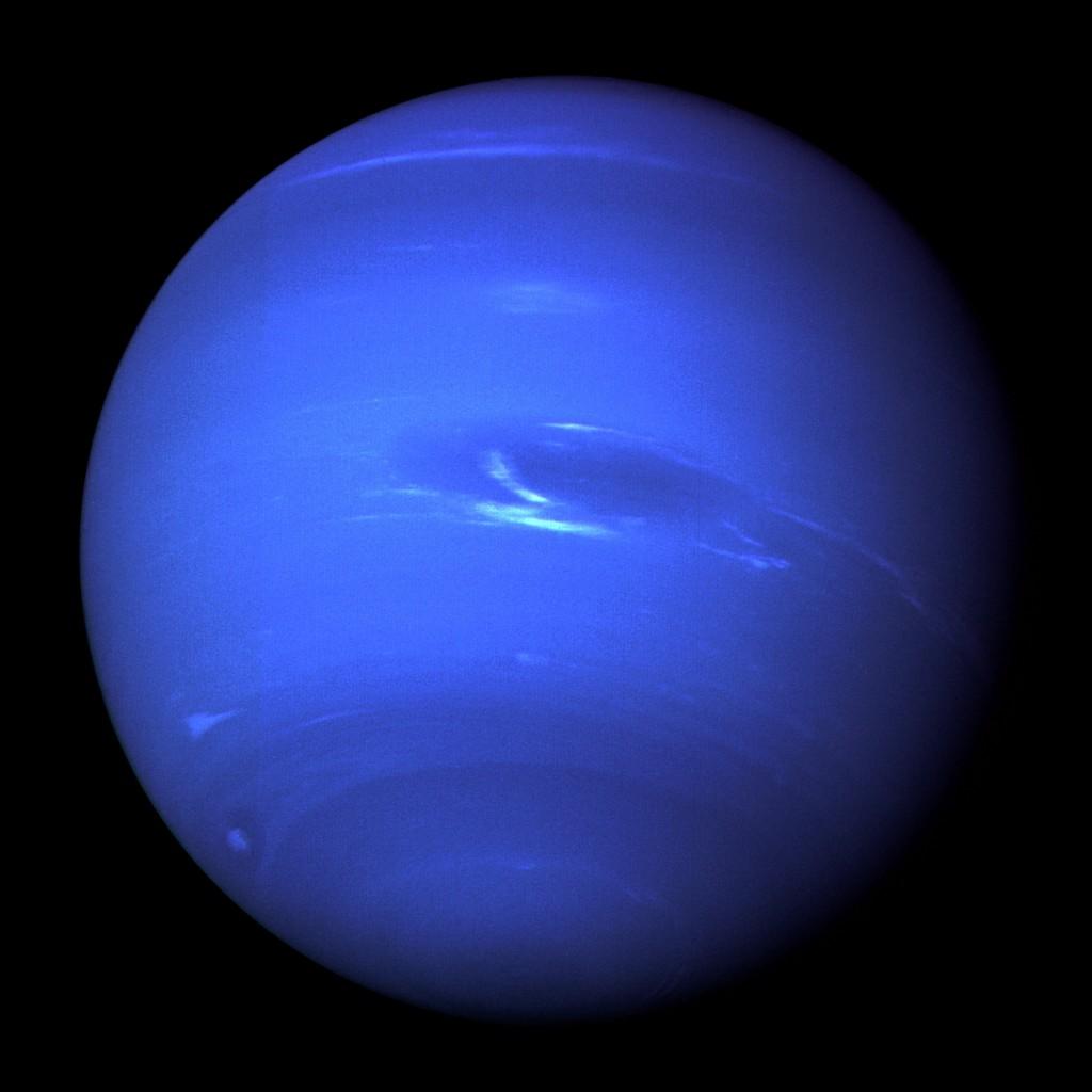 Photo de Neptune prise par la sonde Voyager 2 [Source : Wikipédia]