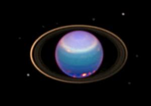 Uranus et ses anneaux vus par Hubble [Source : astro2009.futura-sciences.com]