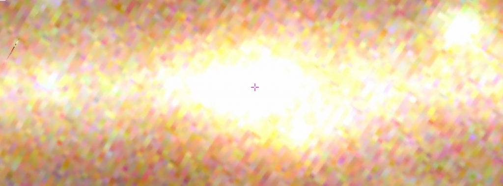 Le centre galactique est extrêmement lumineux. Effectivement, les physiciens soupçonnent qu'un trou noir est à l'origine de SgrA*. Mais les rayons $\gamma$ émis ne viennent pas que de cet objet étant donné l'étendue de la source. Il y a d'autres phénomènes à observer dans le centre galactique qui sont aussi émetteurs de rayons $\gamma$. [Source : http://aladin.u-strasbg.fr]